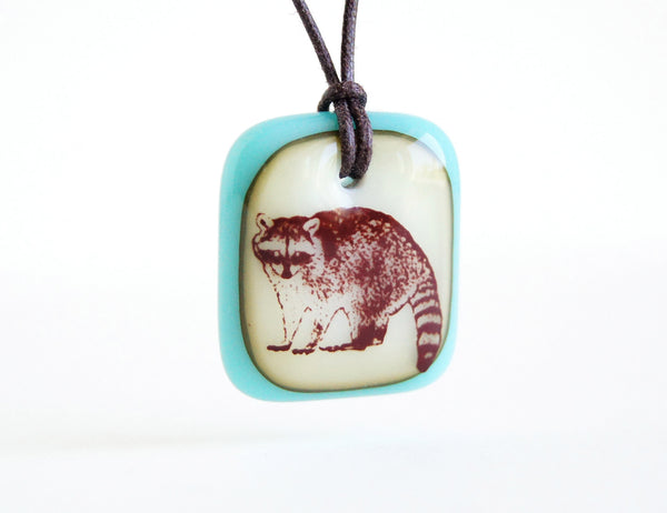 Handmade raccoon lover jewellery.
