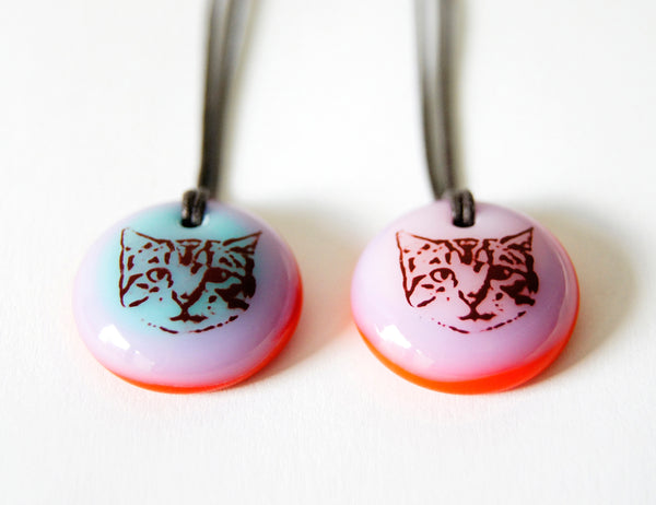 Handmade jewelry cat lovers gift.