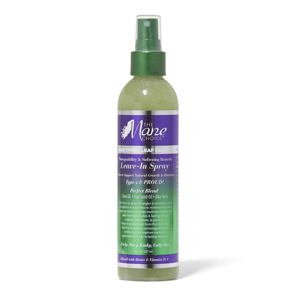 The Mane Choice Hair Type 4 Clover Leaf Leave In Spray