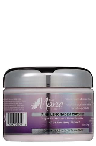 The Mane Choice Pink Lemonade & Coconut Super Antioxidant & Texture Beautifier Curl Boosting Sherbet