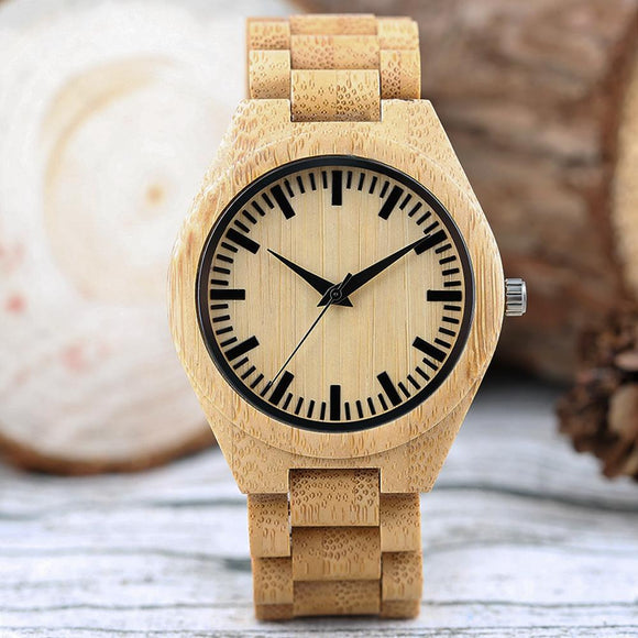Wooden Watches (Bambú) for Men - mymhappybuy