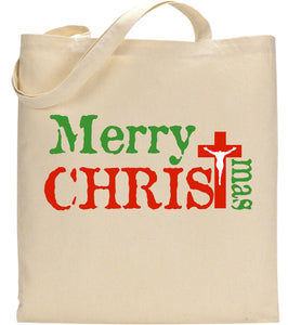 Merry Christmas Jesus Christ Celebration Christian Tote Bag
