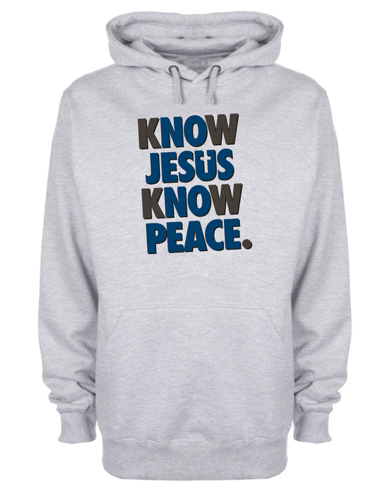 Know Jesus Know Peace Hoodie Christian Sweatshirt