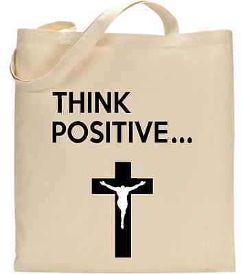 Think Positive Jesus Christ Promises Christian Tote Bag
