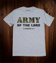Army of The Lord Scripture Christian Grey T Shirt