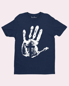 Cross on Hand T Shirt