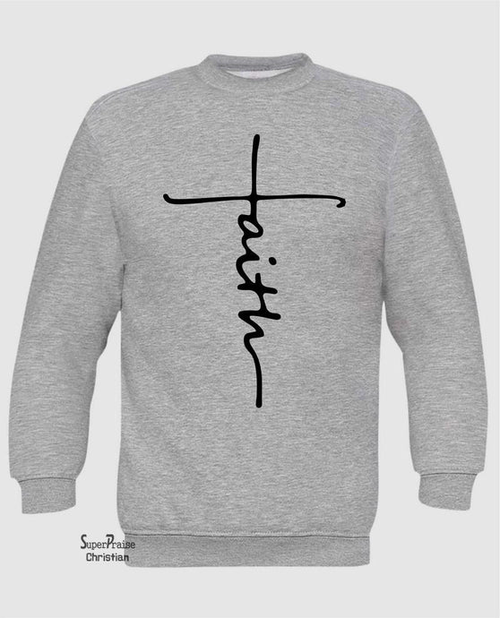 Faith Hoodie Sweatshirt Christian Long Sleeve T Shirt Sweatshirt
