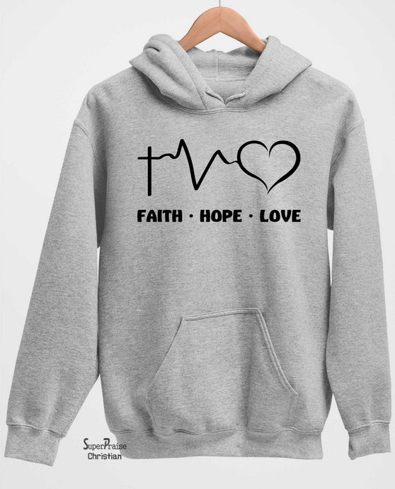 Faith Hope Love Long Sleeve T Shirt Sweatshirt Hoodie