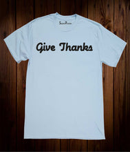 Give Thanks Christian Sky Blue T Shirt