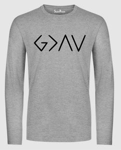 God Is Greater Than High And low Long Sleeve Sweatshirt Hoodie