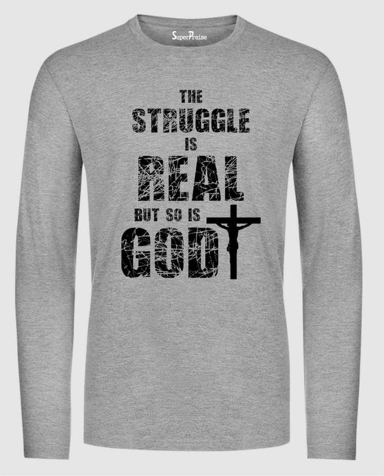 God is Real Faith Long Sleeve T Shirt Sweatshirt Hoodie