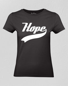 Christian Women T Shirt Hope Believe Faith Gift