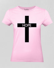 Christian Women T Shirt Hope Cross Jesus