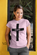 Christian Women T Shirt Hope Cross Jesus Ladies tee