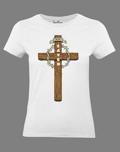 Christian Women T Shirt King of Jews Saved