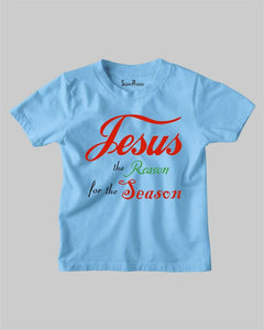 Jesus The Reason For the Season Christmas Christian Kids T shirt