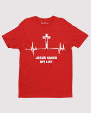 Jesus Saved My Life Heart Beat Christian T shirt