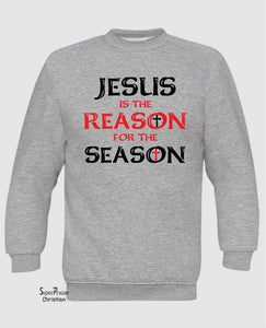 Jesus Is The Reason for The Season Long Sleeve T Shirt Sweatshirt Hoodie