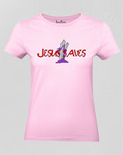 Christian T Shirt Women Jesus Saves Bible