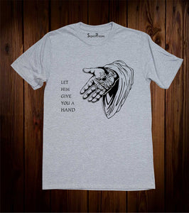 Jesus Gives You A Hand Christian Grey T Shirt