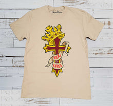 Jesus King of All Christian Beige T Shirt