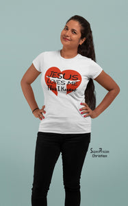 Christian Women T Shirt Jesus Loves Me This I Know