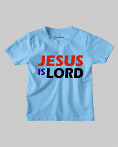 Jesus Is Lord Faith Grace Bible Verse Christian Kids T Shirt