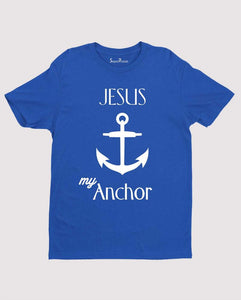 Jesus my Anchor Resting Place Bible Verse Christian T shirt