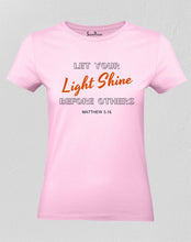 Christian T Shirt Let Your Light Shine