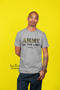 Army of The Lord Scripture Christian T Shirt - Super Praise Christian
