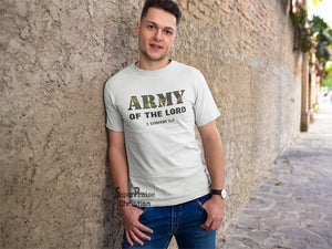 Army Of The Lord Christian T Shirt - Super Praise Christian