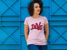 Christian Women T Shirt Love Graffiti Paint