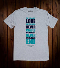 Love Never Ceases Christian Grey T Shirt
