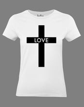 Christian Ladies T Shirt Love Cross Jesus