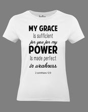 Christian Women T Shirt Power Is Made Perfect