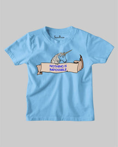 Nothing Impossible Unicorn Horn Anointing Christian Kids T shirt
