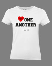 Christian Women T Shirt Jesus Love One Another