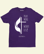 Pray More God Church Bible Verse Christian T Shirt