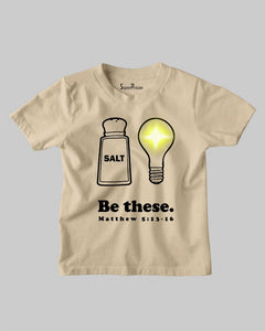 Salt of The Earth Light of The World Church Christian Kids T shirt