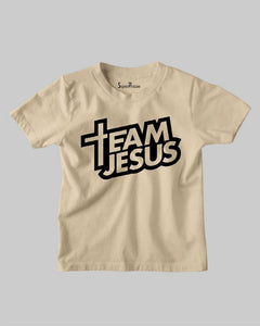 Team Jesus Faith Grace Bible Verse Christian Kids T shirt