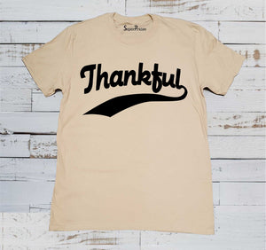 Thankful Christian Jesus Christ Thanksgiving Easter Christmas Beige T Shirt