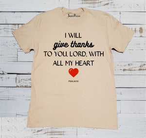 Thanks To You Lord Christian Beige T Shirt