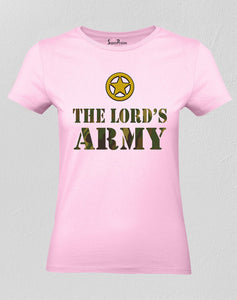 Christian Women T Shirt Lord's Army Warrior