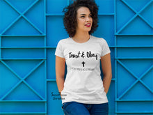 Christian Women T Shirt Trust And Obey Cross Ladies tee tshirt