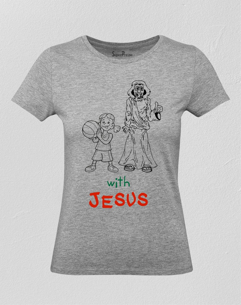 Christian Women T Shirt People Happy with Jesus