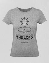 Christian Women T Shirt Who Fears Holy Jesus