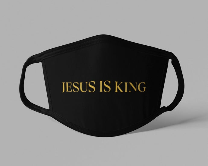 Jesus is King Face Mask
