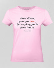 Christian Women T Shirt Guard Your Heart Gospel Faith Jesus Holy
