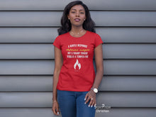 Christian Women T shirt Sharp Tongue Kindles Fire
