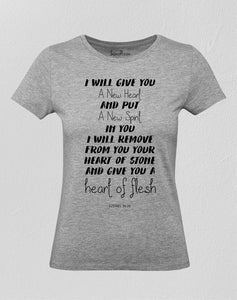 Christian Women T Shirt Hearth of Flesh